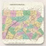 Vintage Map of Pennsylvania (1827) Coaster