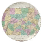Vintage Map of Pennsylvania (1827) Dinner Plates