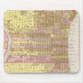 Vintage Map of Philadelphia (1846) Mouse Pad