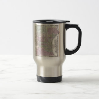 Vintage Map of Philadelphia (1855) Travel Mug