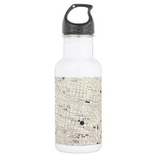 Vintage Map of Philadelphia (1885) 532 Ml Water Bottle