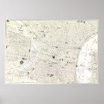 Vintage Map of Philadelphia (1885) Poster