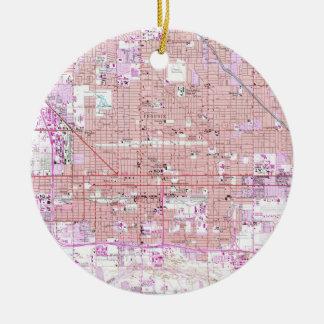 Vintage Map of Phoenix Arizona (1952) 2 Christmas Ornament