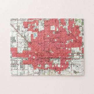 Vintage Map of Phoenix Arizona (1952) 3 Jigsaw Puzzle