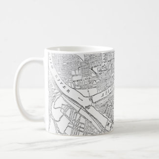 Vintage Map of Pittsburgh (1885) Coffee Mug