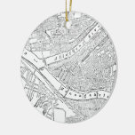 Vintage Map of Pittsburgh (1885) Ornament