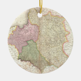 Vintage Map of Poland (1818) Christmas Ornament