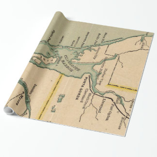 Vintage Map of Port Charlotte Florida (1896) Wrapping Paper