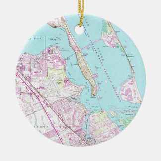 Vintage Map of Port St Lucie Inlet (1948) Christmas Ornament