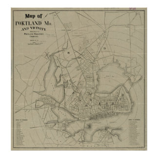 Vintage Map of Portland Maine (1902) Poster