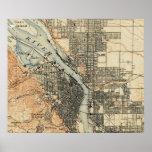 Vintage Map of Portland Oregon (1896) Poster