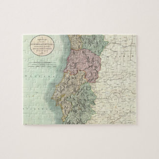 Vintage Map of Portugal (1801) Jigsaw Puzzle