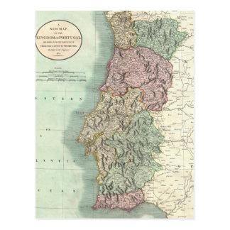 Vintage Map of Portugal 1801 Postcards