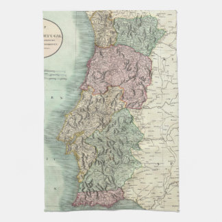 Vintage Map of Portugal (1801) Tea Towel
