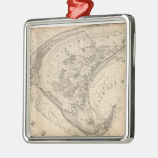 Vintage Map of Provincetown (1836) Christmas Ornament