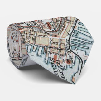 Vintage Map of Quebec City (1894) Tie