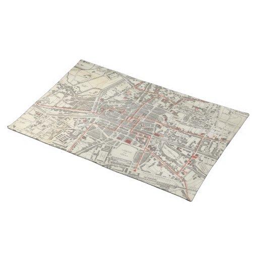 Vintage Map of Rennes France (1905) Placemat