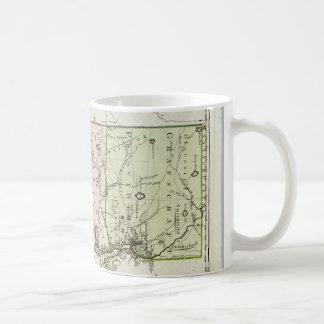 Vintage Map of Rhode Island 1797 Coffee Mugs