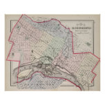 Vintage Map of Richmond Virginia (1884) Poster