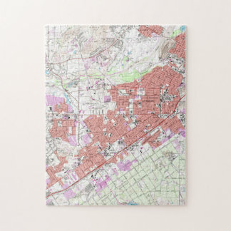 Vintage Map of Riverside California (1967) Jigsaw Puzzle