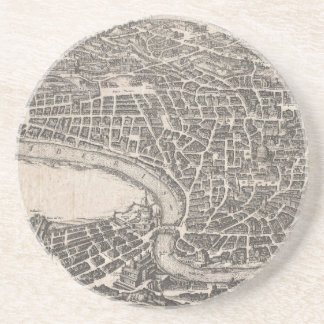 Vintage Map of Rome Italy (1652) Coaster