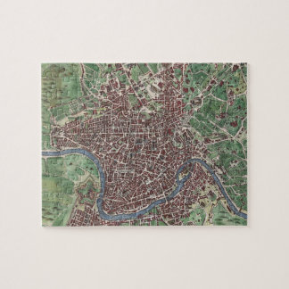 Vintage Map of Rome Italy (1721) Jigsaw Puzzle