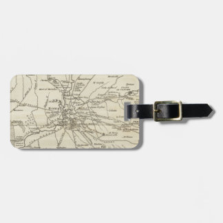 Vintage Map of Rome Italy (1821) Luggage Tag