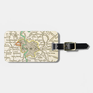 Vintage Map of ROME Luggage Tag