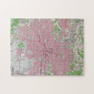 Vintage Map of San Antonio Texas (1953) Jigsaw Puzzle