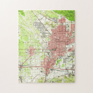 Vintage Map of San Bernardino California (1954) Jigsaw Puzzle