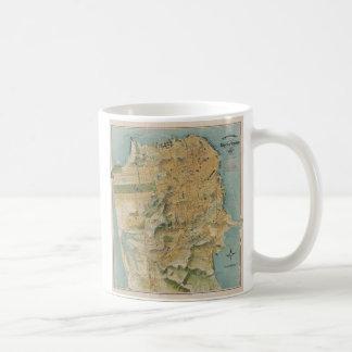 Vintage Map of San Francisco (1915) Basic White Mug