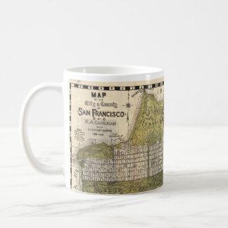 Vintage Map of San Francisco (1932) Basic White Mug