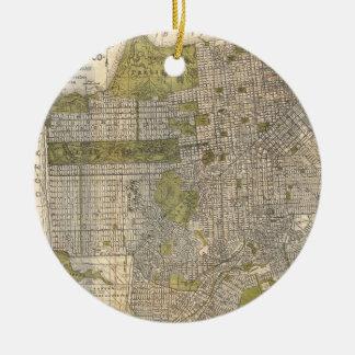 Vintage Map of San Francisco (1932) Christmas Ornament