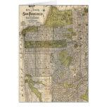 Vintage Map of San Francisco (1932) Greeting Card