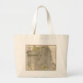 Vintage Map of San Francisco (1932) Jumbo Tote Bag
