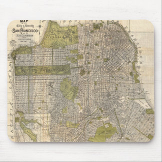 Vintage Map of San Francisco (1932) Mouse Mat