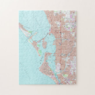 Vintage Map of Sarasota Florida (1973) Jigsaw Puzzle