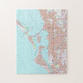 Vintage Map of Sarasota Florida (1973) Jigsaw Puzzle