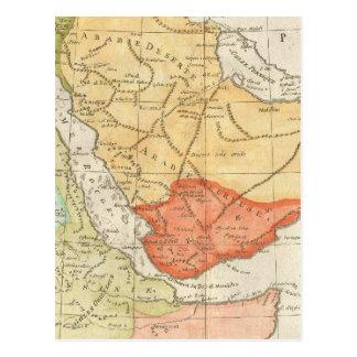Vintage Map of Saudi Arabia (1780) Postcard