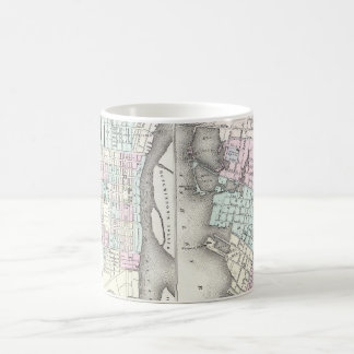 Vintage Map of Savannah and Charleston (1855) Coffee Mug