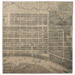 Vintage Map of Savannah Georgia (1818) Printed Napkin