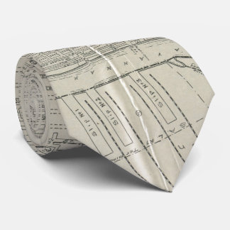 Vintage Map of Savannah Georgia (1917) Tie