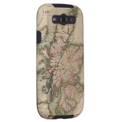 Vintage Map of Scotland (1814) Samsung Galaxy SIII Cases