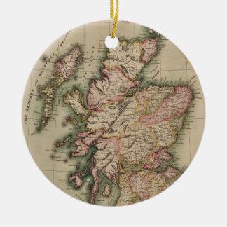 Vintage Map of Scotland (1814) Christmas Ornament