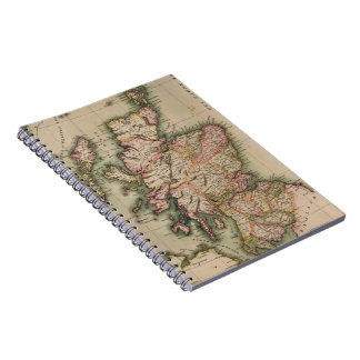 Vintage Map of Scotland (1814) Notebooks