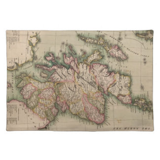 Vintage Map of Scotland (1814) Placemat