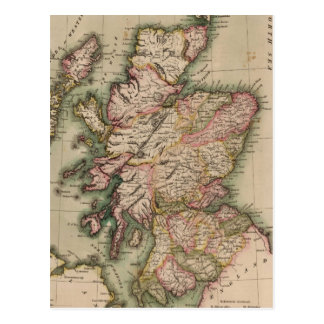 Vintage Map of Scotland (1814) Postcard