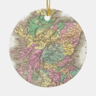 Vintage Map of Scotland (1827) Christmas Ornament