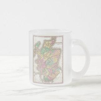 Vintage Map of Scotland (1827) Frosted Glass Mug