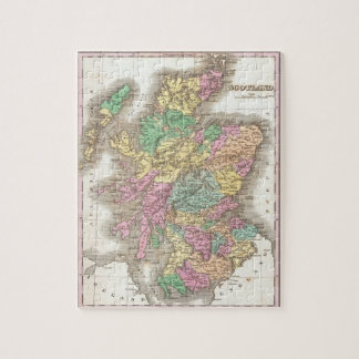 Vintage Map of Scotland (1827) Jigsaw Puzzle